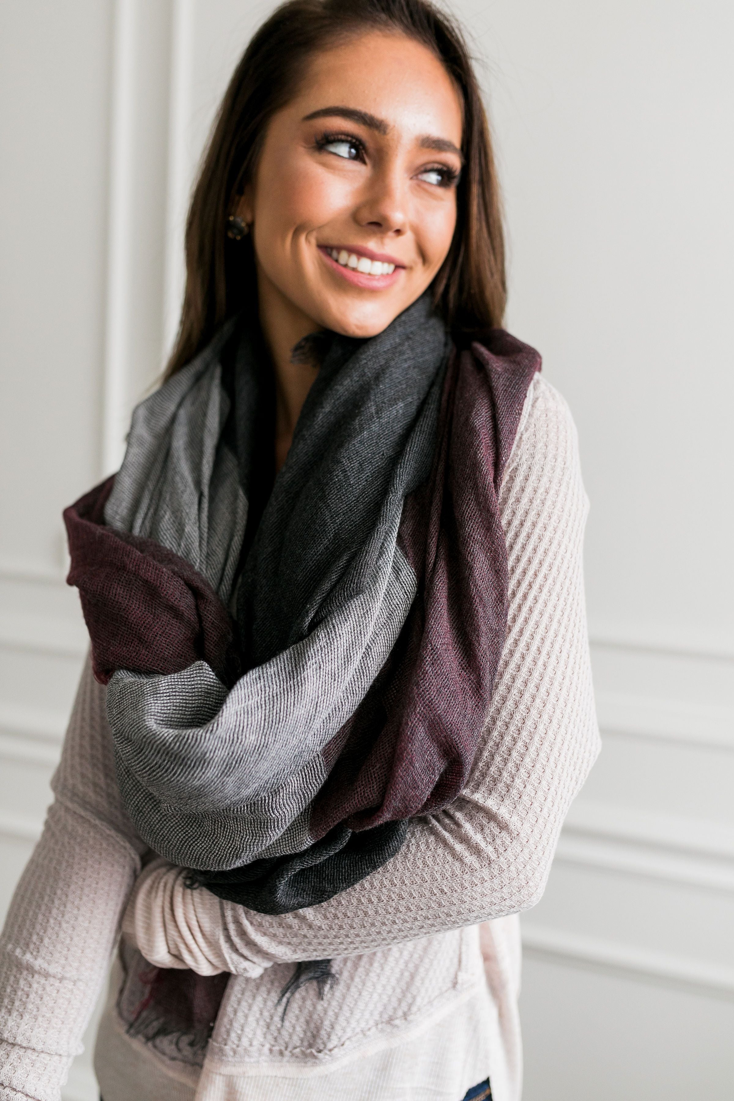 Classy Colorblock Scarf - ALL SALES FINAL