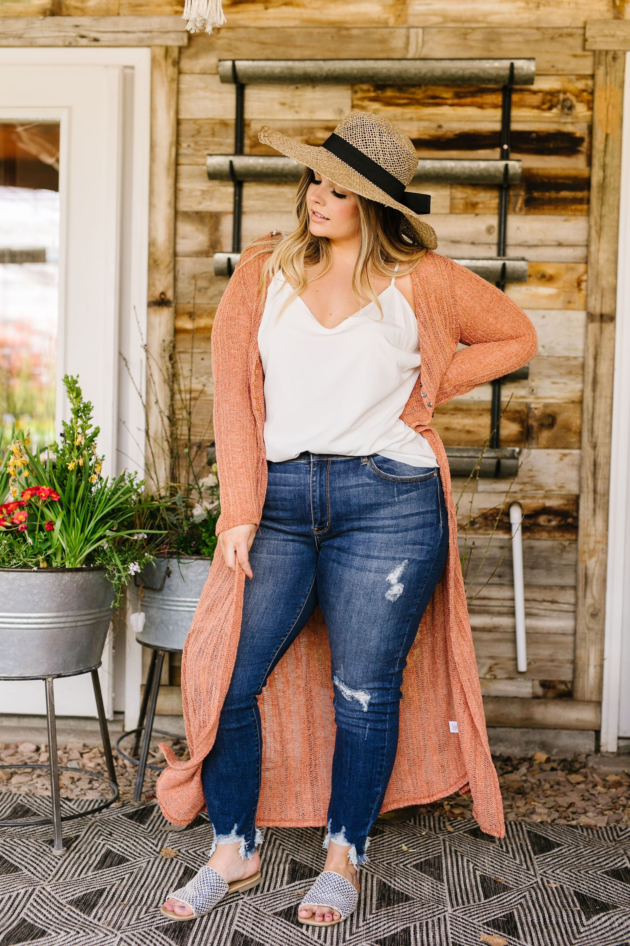 Copper Sweater Maxi Cardi