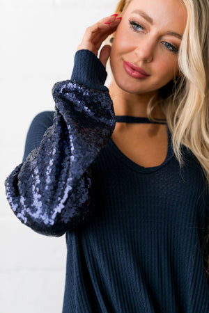 Dance The Night Away Sequined Top - ALL SALES FINAL