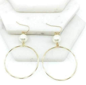 Drops Of Jupiter Pearl & Hoop Earrings