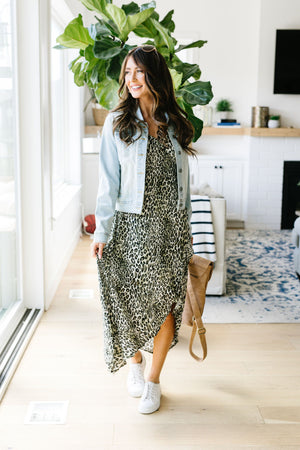 Enjoy The Ride Leopard Print Maxi Dress