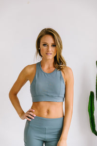 Flying V Racerback Sports Bra - ALL SALES FINAL