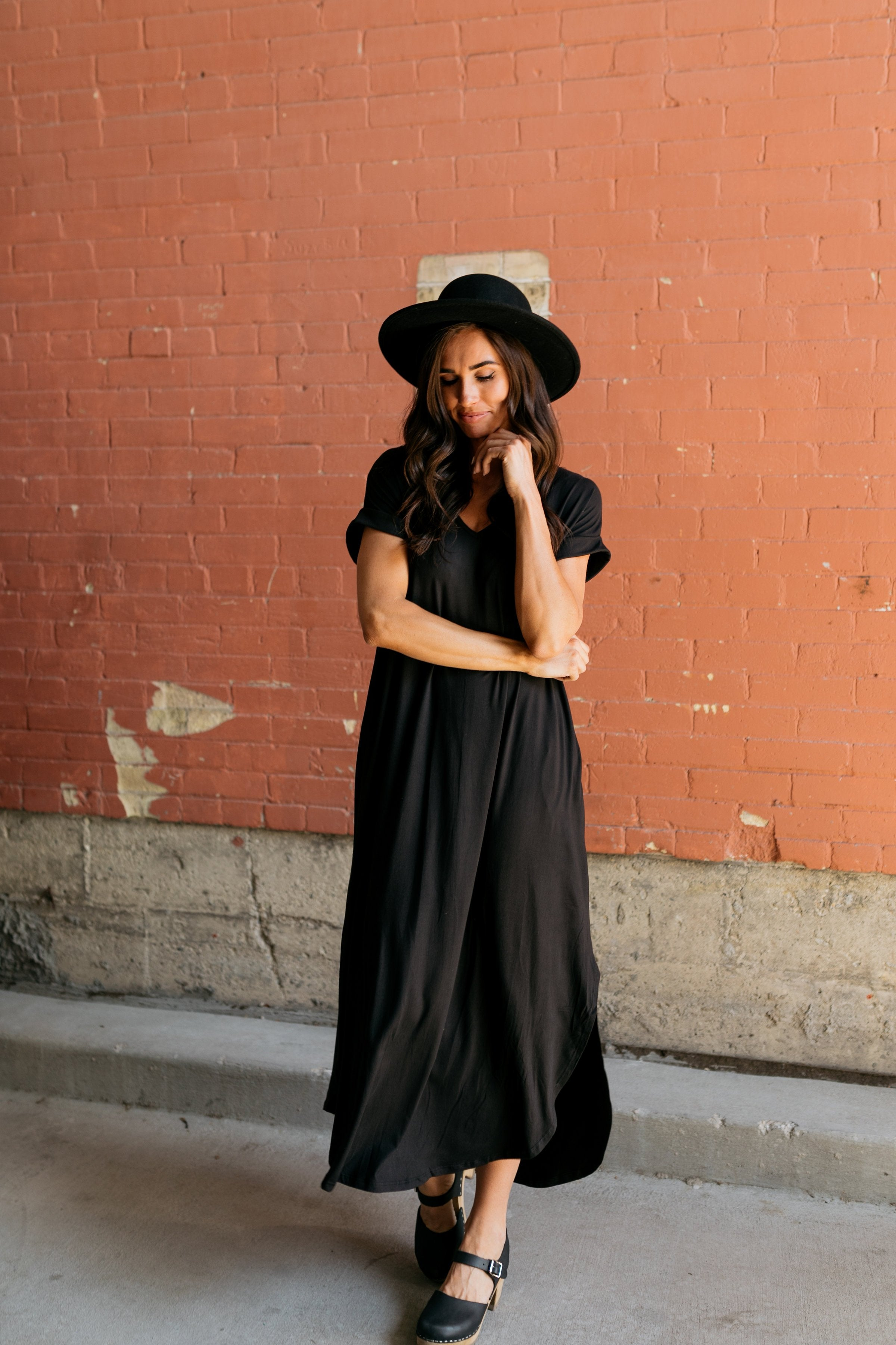 Free And Easy Maxi Dress In Black