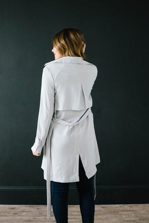 In The Trenches Light Weight Jacket in Gray