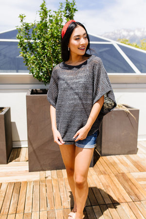 Light Up The Night Charcoal Sweater