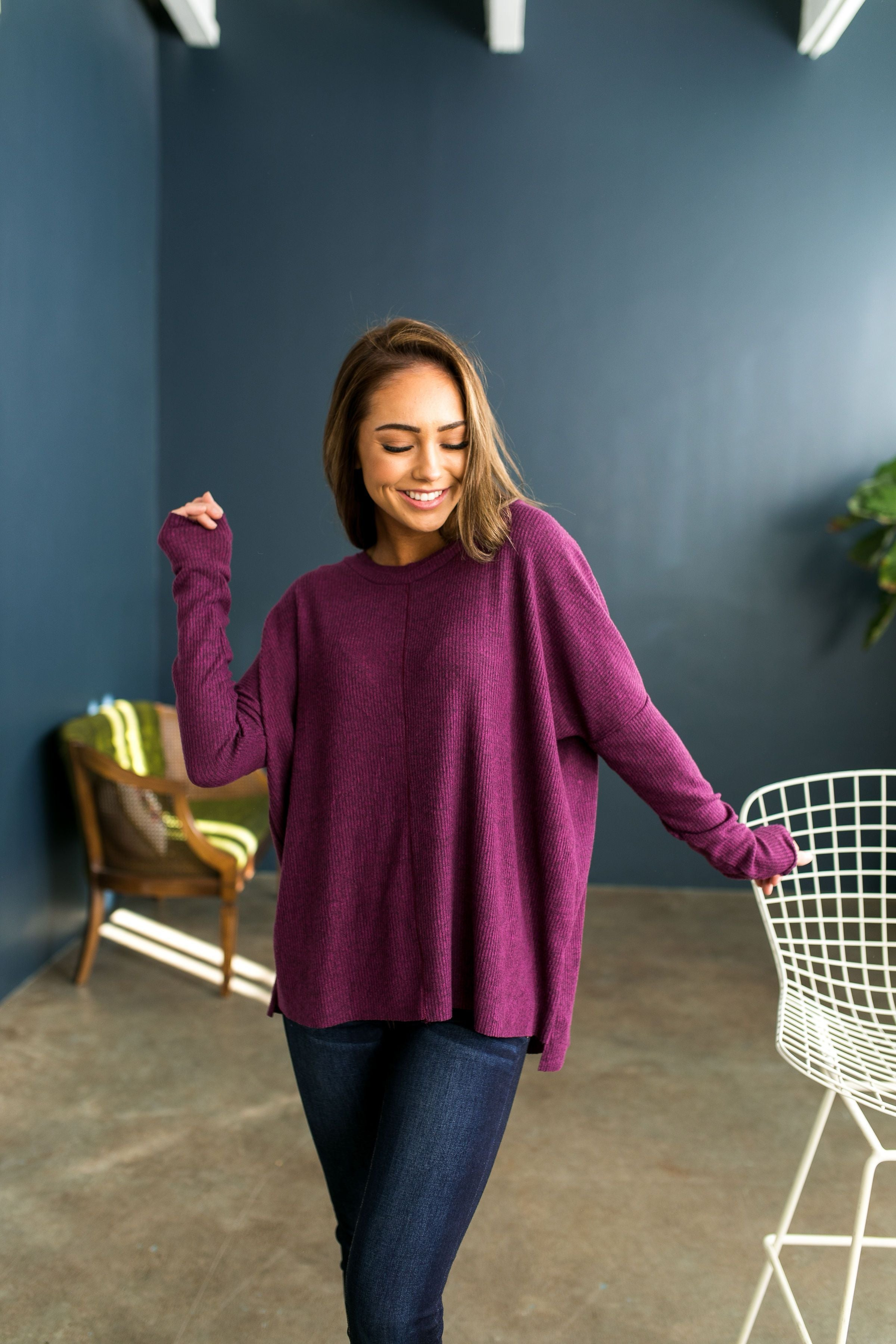 Magnificent Magenta Soft Ribbed Top