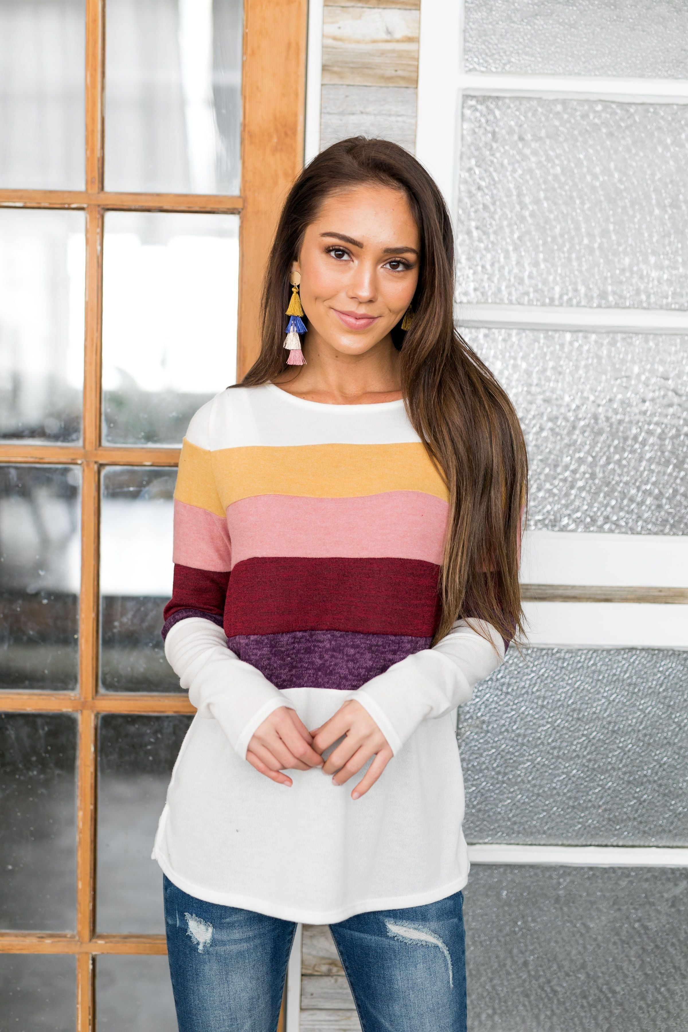 Ombre Color Block Top - ALL SALES FINAL