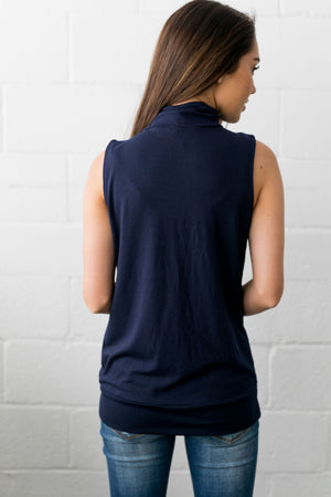 Pleats A Plenty In Navy - ALL SALES FINAL