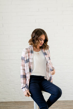 Pretty In Plaid Open Front Cardi