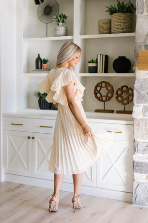 Pretty Pleats With A Cherry On Top Dress