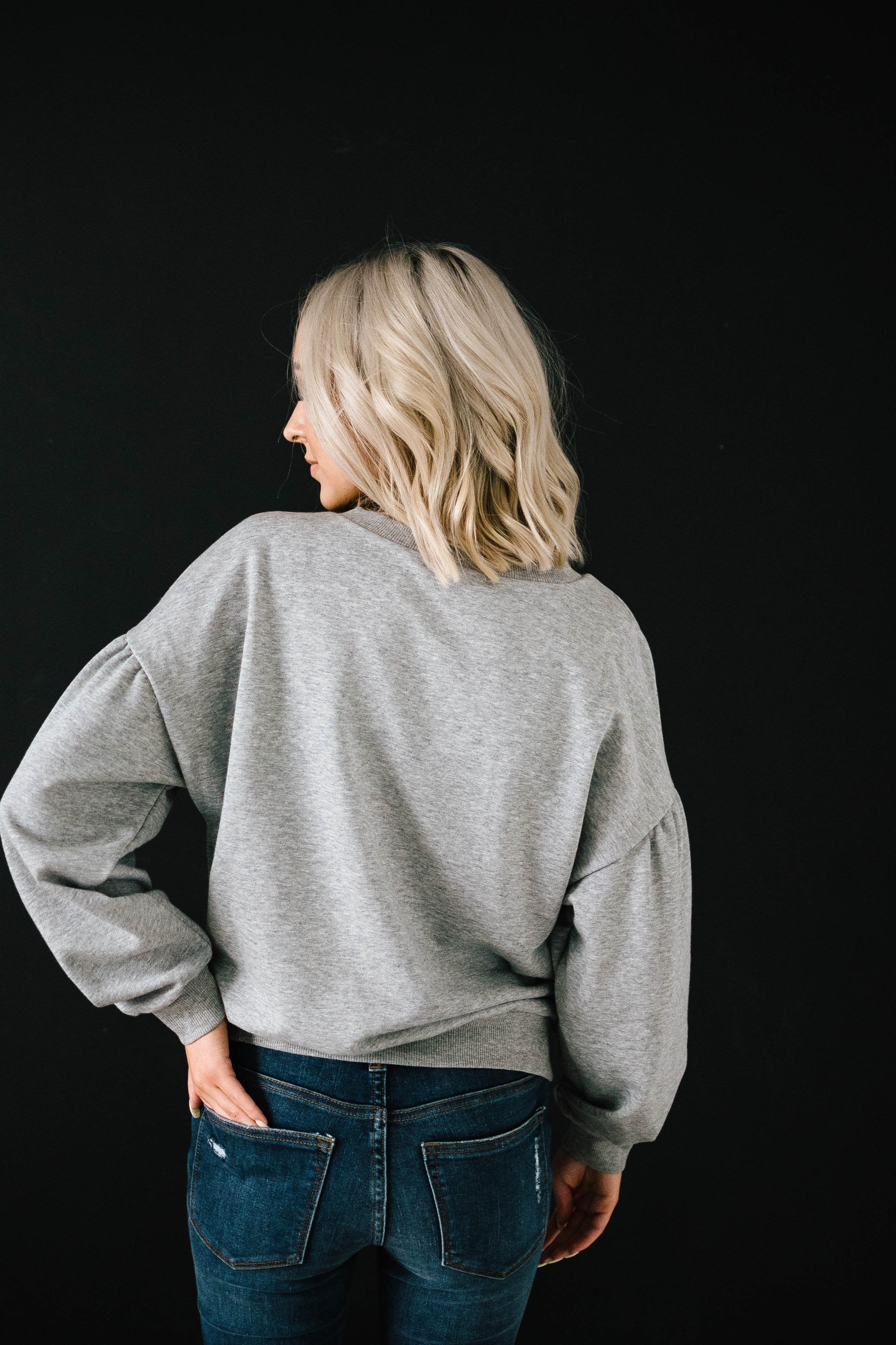 Rock And Roses Top in Gray
