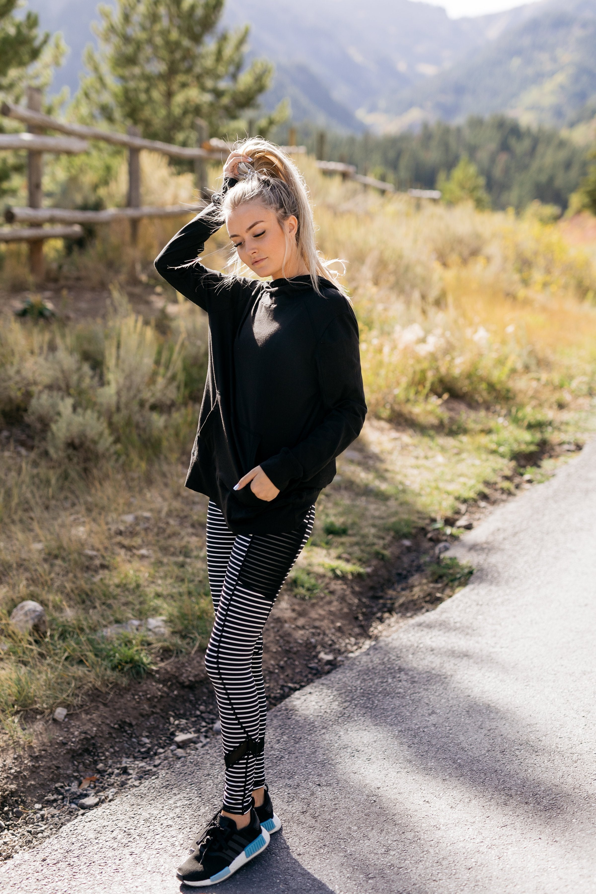 Sprint To The Finish Striped Leggings