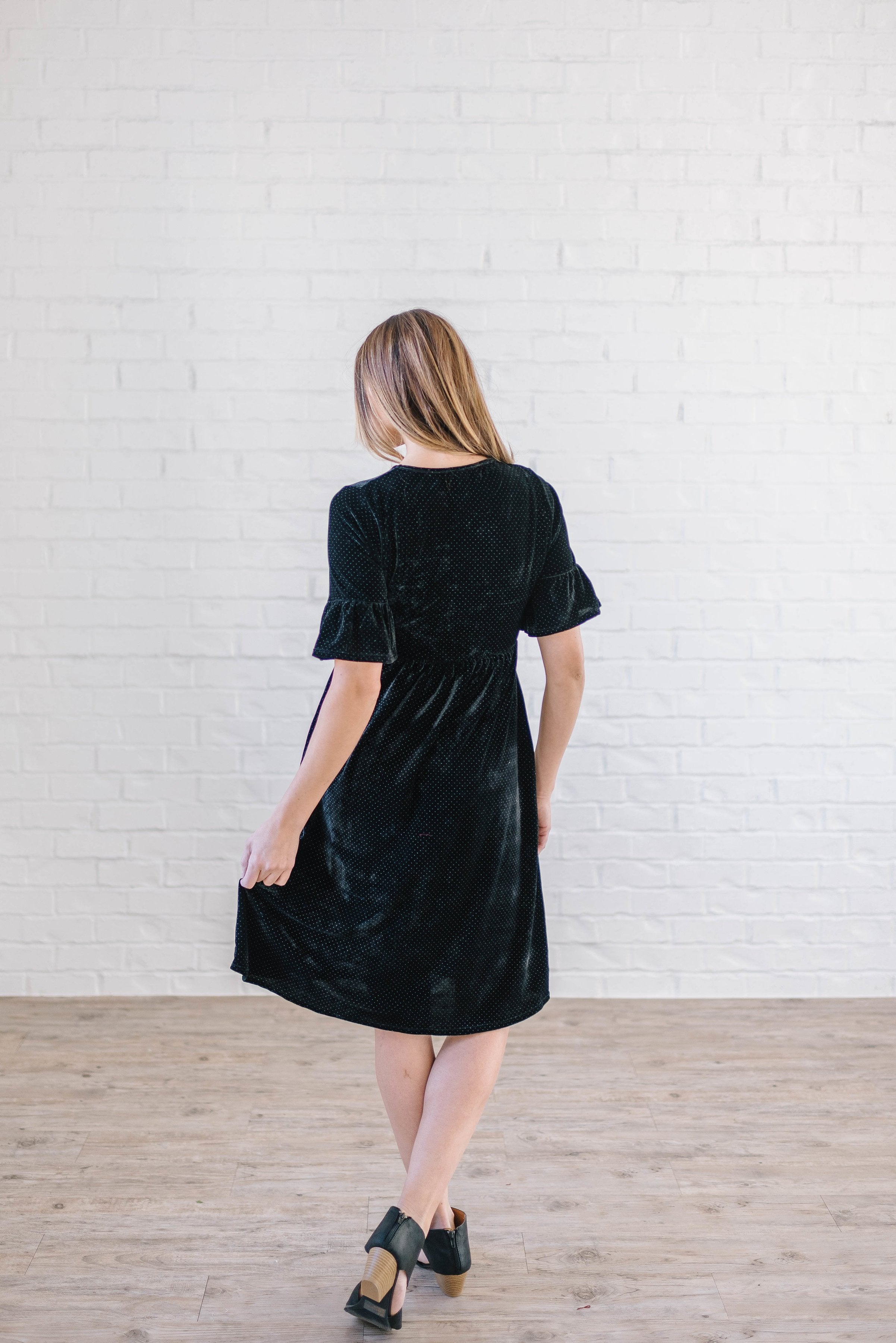 Starry Night Velvet Dress