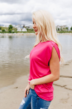 Te Adoro Top In Fuchsia