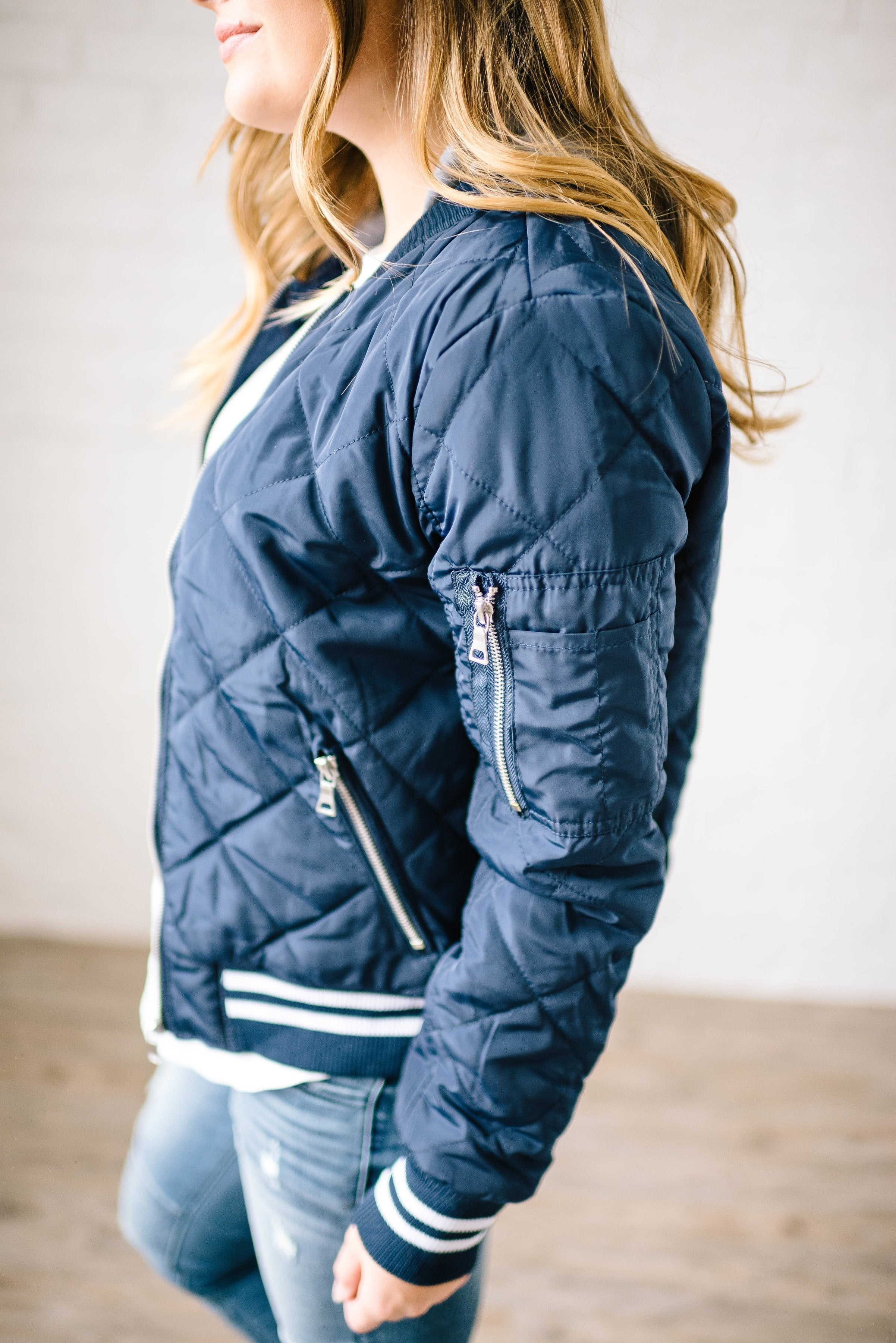 The Bomb Jacket in Navy
