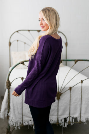 Thermal Tunic In Purple