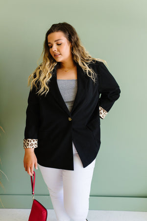 Turn Up The Wild Black Blazer