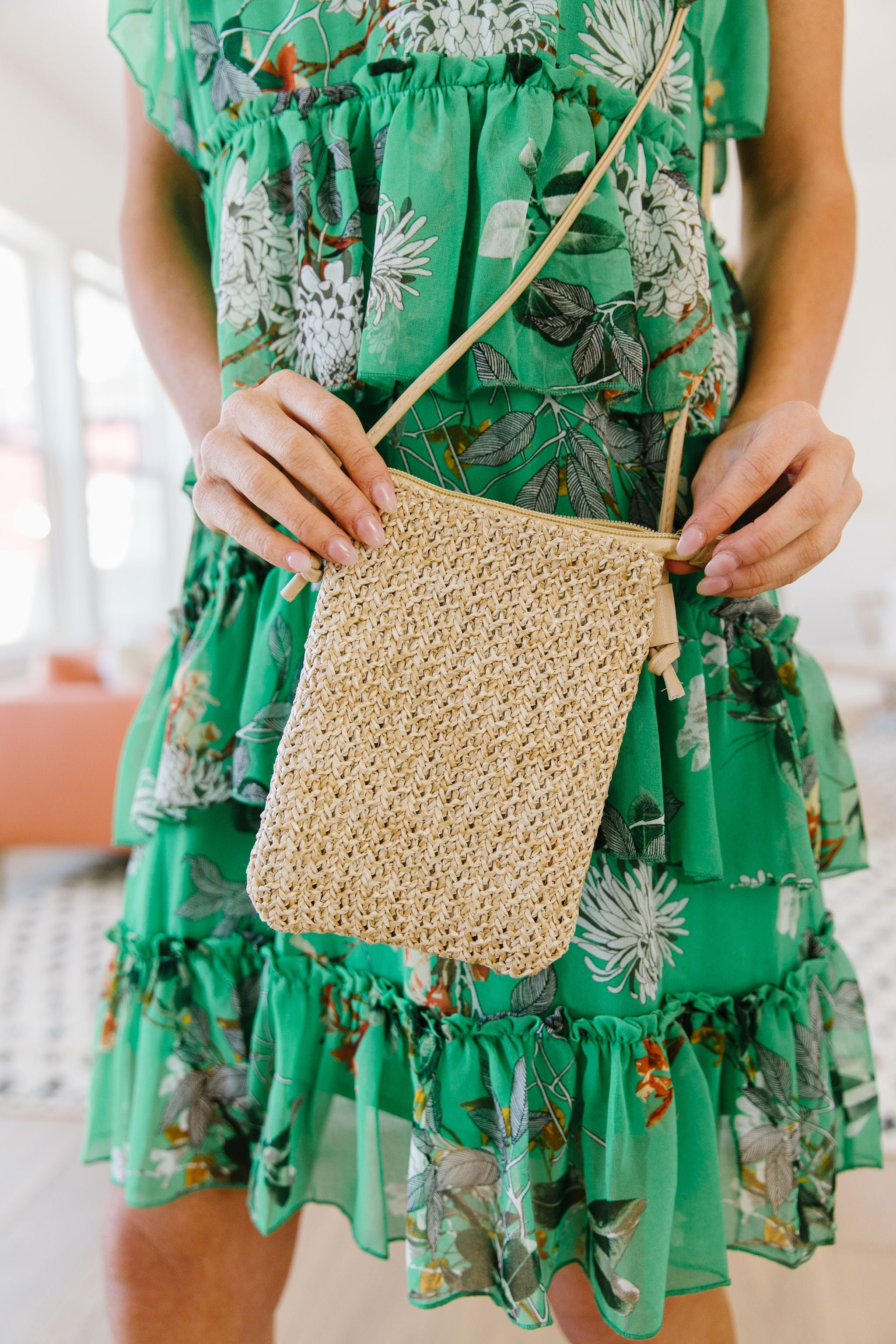 Weave Your Troubles Behind Woven Cell Phone Bag