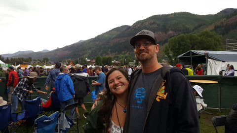 Couple at Telluride Ride Festival 2018