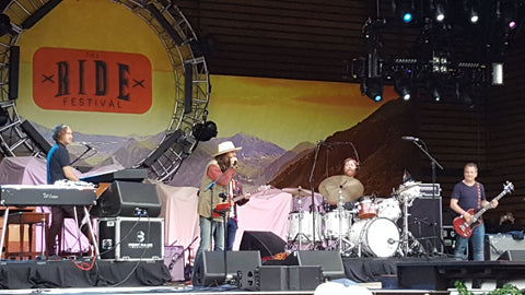 Band playing at Telluride Ride Festival 2018