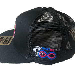 2018 Lockn' Festival Otto Trucker Hat Black Solid Front Black Mesh Back