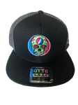 2018 Lockn' Festival Otto Trucker Hat Black Solid Front Gray Mesh Back