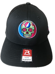 2018 Lockn' Festival Richardson Trucker Hat Black Front with Black Mesh Back Flex Fit Hat - 2 Size Options