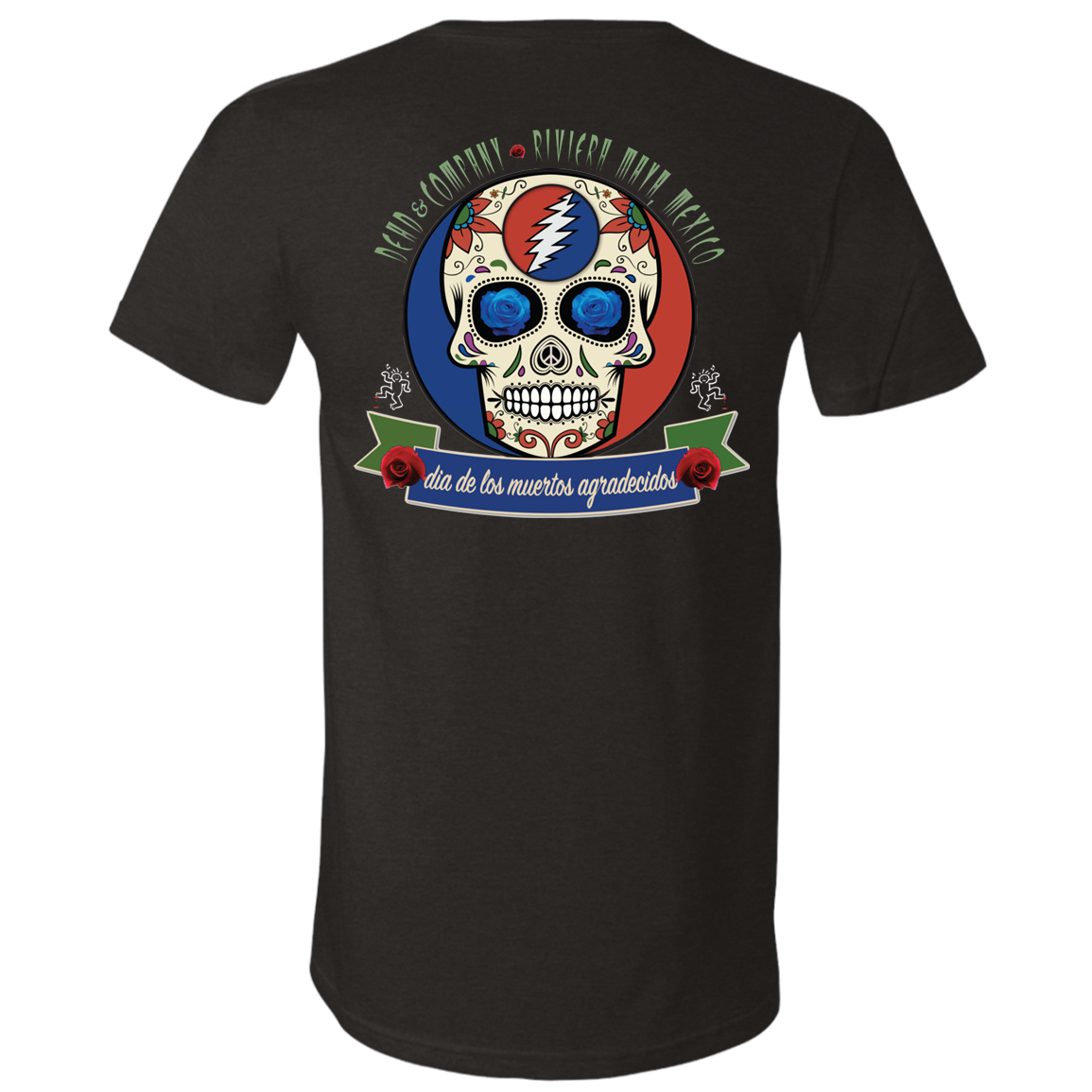 "2018 Playing in the Sand ""Day of the Grateful Dead"" Bella+Canvas Men's / Unisex Jersey SS V-Neck T-Shirt - 6 Color Options"