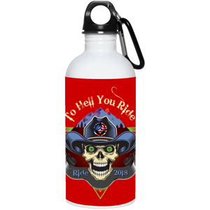 """To Hell You Ride"" USA Biker 20 oz. Stainless Steel Water Bottle"