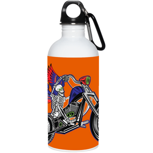 """Skully Biker"" USA 20 oz. Stainless Steel Water Bottle"