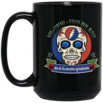 "2018 Playing in the Sand ""Day of the Grateful Dead"" 15 oz. Black Mug"