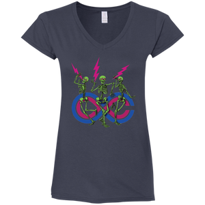 "2018 Lockn' Festival ""Skully Jammers"" Gildan Ladies' Fitted Softstyle V-Neck - 8 Color Options"