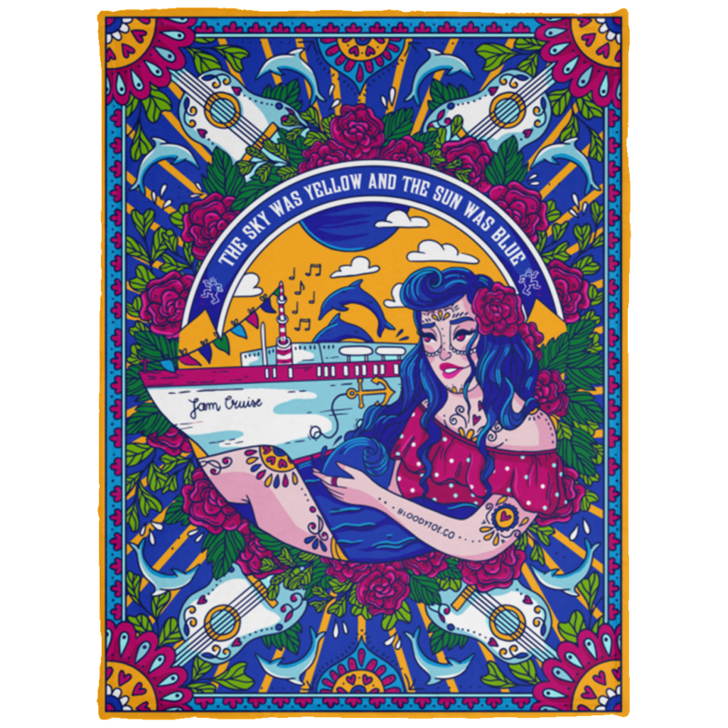 Jam Cruise Grateful Dead Baby Velveteen Micro Fleece Blanket