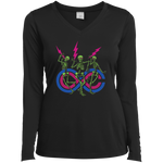 "2018 Lockn' Festival ""Skully Jammers"" Ladies' Sport-Tek Long Sleeve Performance V-Neck T-Shirt - 9 Color Options"