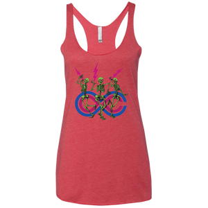 "2018 Lockn' Festival ""Skully Jammers"" Ladies' Next Level Triblend Racerback Tank - 14 Color Options"