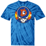 Broncos One of a Kind Steal Your Face Design Tie Dye T-Shirt
