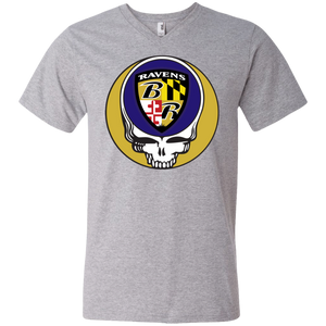 Ravens Shield Grateful Dead Design Men's V-Neck T-Shirt