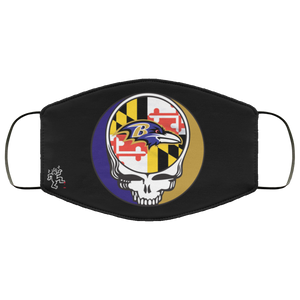 Ravens MD State Flag Machine Washable Custom Design Face Mask