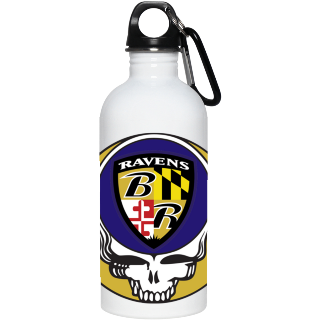 Ravens Shield Grateful Dead 20 oz. Stainless Steel Water Bottle