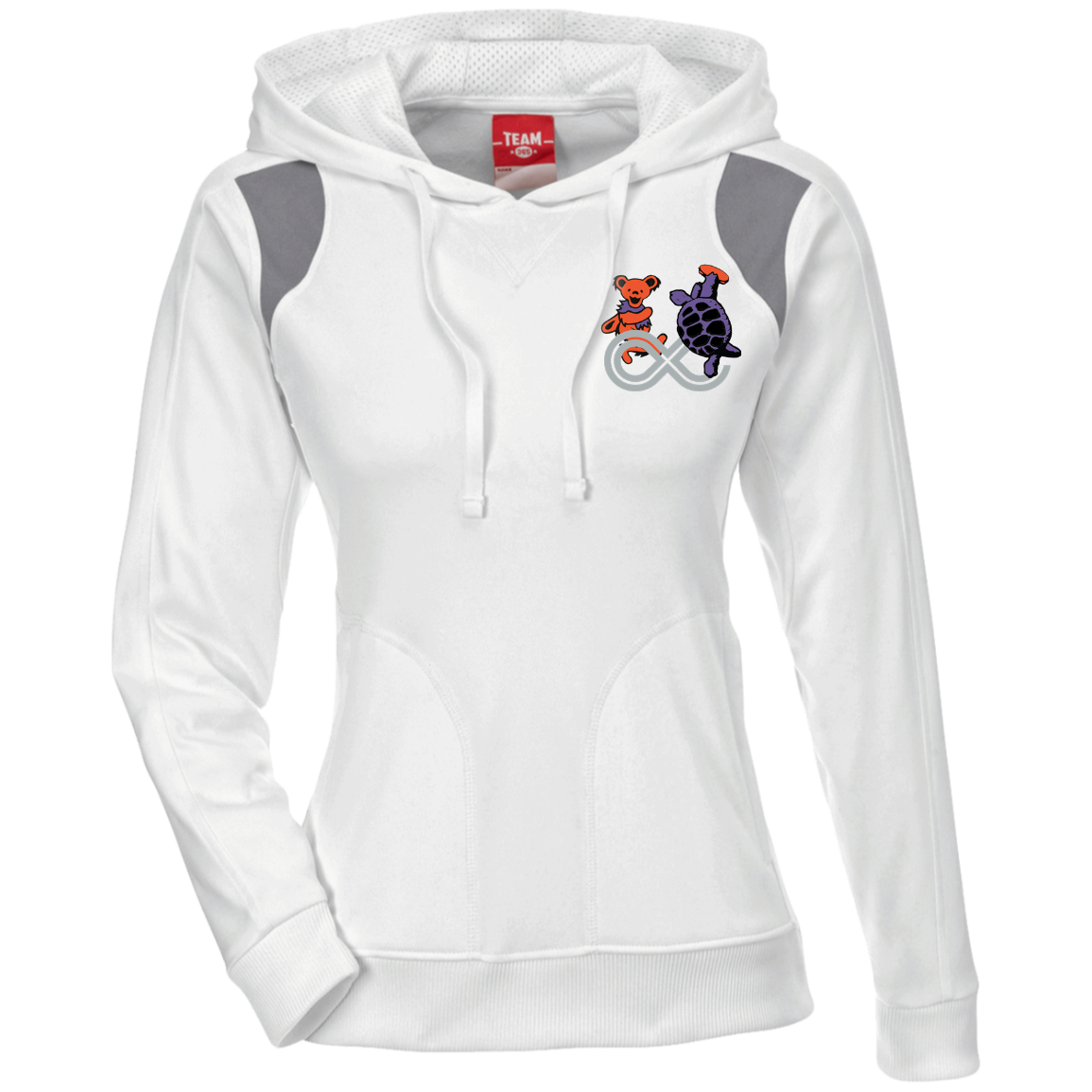 Lockn' Festival Bear & Terrapin Ladies' Colorblock Poly Hoodie