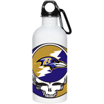 Ravens Grateful Dead Design 20 oz. Stainless Steel Water Bottle