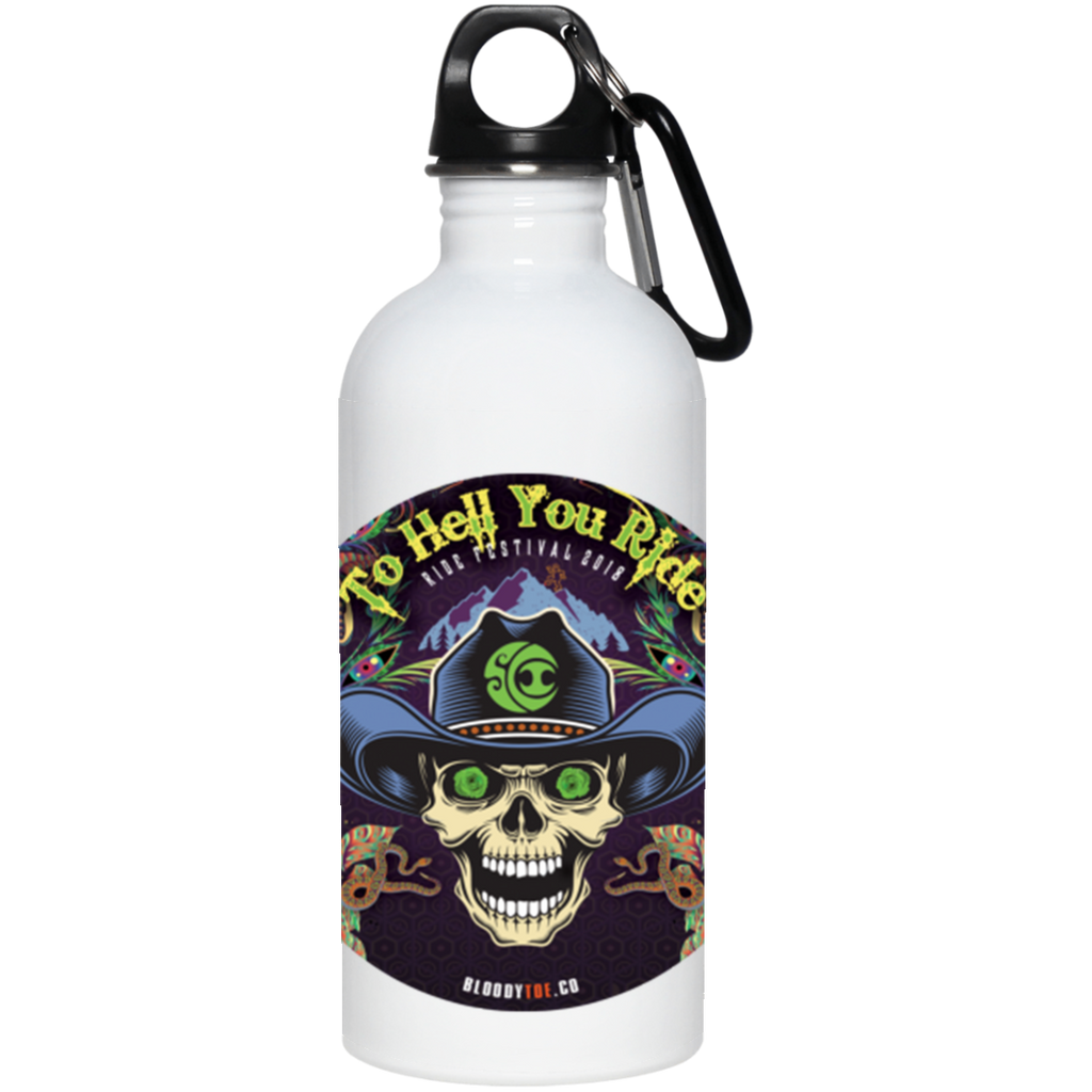 "2018 Ride Festival ""To Hell You Ride"" 20 oz. Stainless Steel Water Bottle - 9 Color Options"