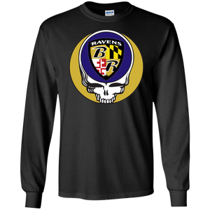 Ravens Shield Grateful Dead Steal Your Face Men's Lg. Sleeve Tee