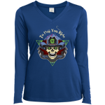 "2018 Ride Festival ""To Hell You Ride"" Ladies' Long Sleeve V-Neck"