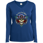 """To Hell You Ride"" USA Biker Ladies' Long Sleeve Performance VNeck"