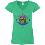 "2018 Lockn' Festival ""The Music Never Stopped"" Gildan Ladies' Fitted Softstyle V-Neck - 8 Color Options"