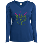 """Skully Jammers"" Ladies' Sport-Tek Long Sleeve Performance V-Neck"