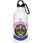 """The Music Never Stopped"" 20 oz Stainless Steel Water Bottle"