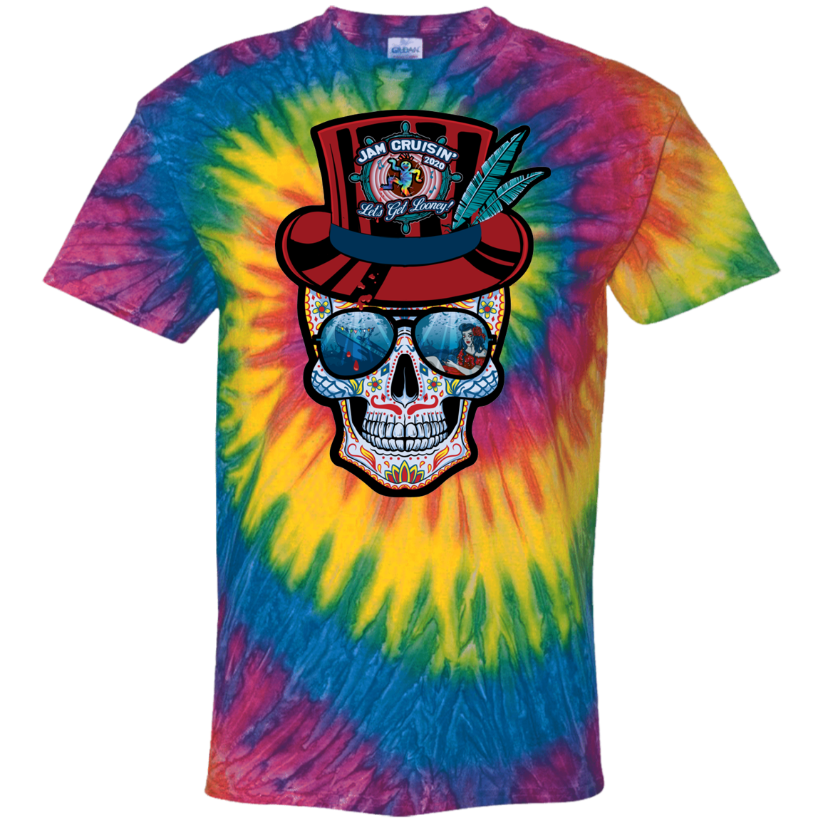 Jam Cruisin' 2020 Captain Looney Tie Dye T-Shirt
