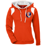 Broncos Horse Grateful Dead Ladies' Embroidered Colorblock Hoodie